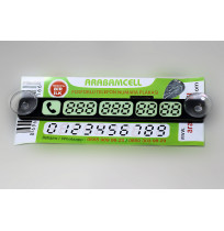 ARAÇ İÇİ FOSFORLU OTOPARK  NUMARATÖR TELEFON CAM KARTI